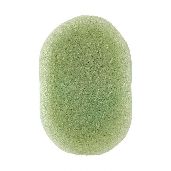 Esponja konjac Meraki té verde piel dañada