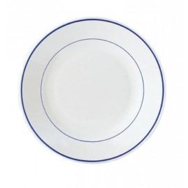 Plato hondo con filo en color azul  22,5cm