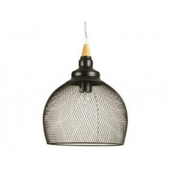 Lámpara de techo malla negra 38x38 cm