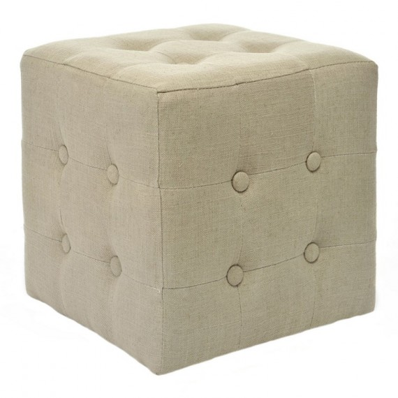 Pouf cuadrado con botones de 35x35x35 cm