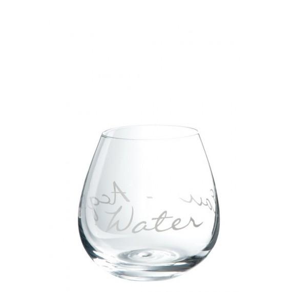 Vaso de agua de cristal transparente