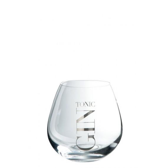 Vaso para gin de cristal transparente