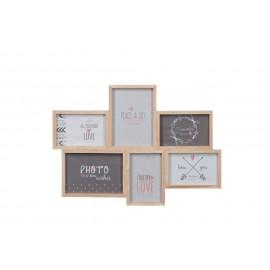 Marco de madera para 6 fotos 50x35 cm