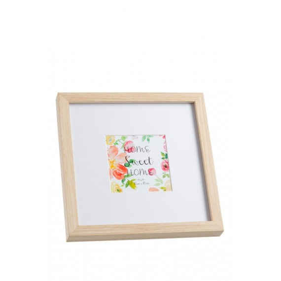 Marco de fotos de madera de 23x23 cm