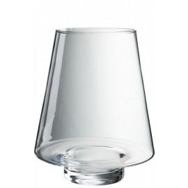 Jarrón cónico de cristal transparente 23x19x19 cm