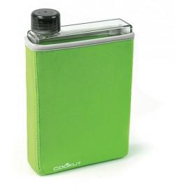 Petaca con funda verde 40 cl