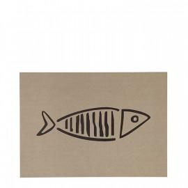 Mantel individual beige pez