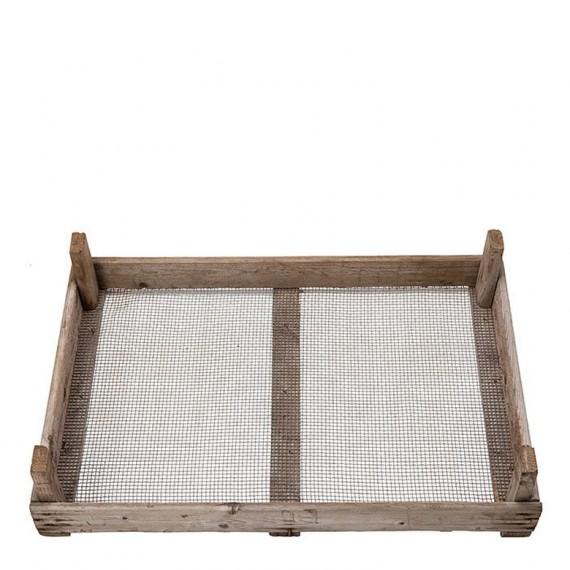 Caja de madera con rejilla