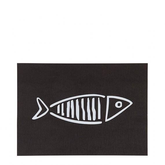 Mantel individual negro pez