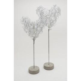 Florero corazón de metal de Serax 39 cm