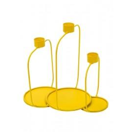 Candelabro amarillo de Serax 20 cm