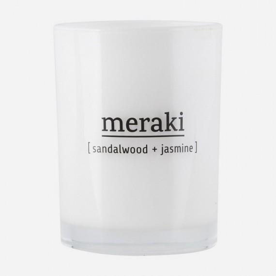 Vela aromática Meraki sándalo y jazmín