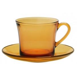 Pack de 6 tazas de café y platillos Duralex Lys