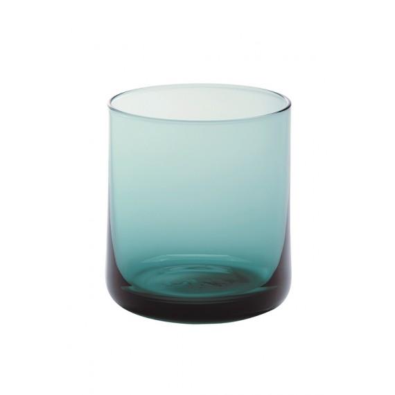 Vaso de agua cristal turquesa -bloom- 8,4x7,4cm