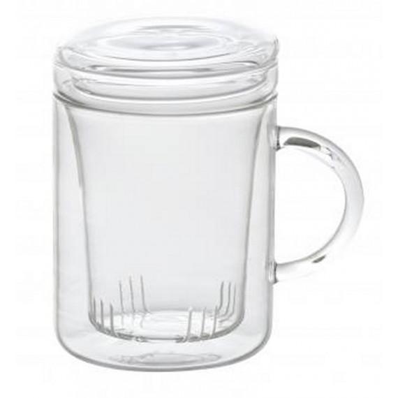 Taza de cristal con tapa y filtro Bitossi