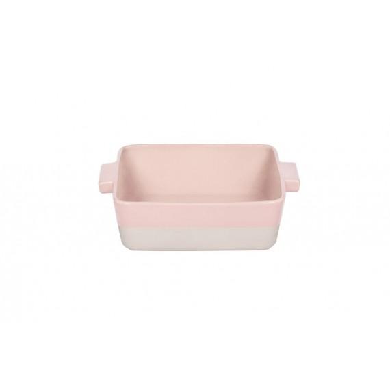 Fuente de horno rosa-crema  Bitossi 31.5 x 21.5 cm