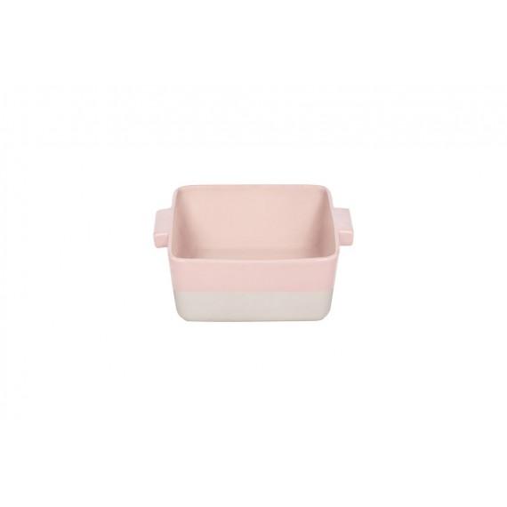 Fuente de horno rosa-crema Bitossi 25.5 x 25.5 cm