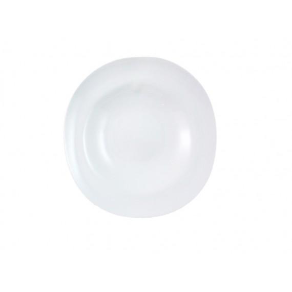 Plato hondo blanco brillo shell cookplay