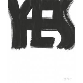 "Lámina ""yes"" de ylva skarp 40x50 cm."