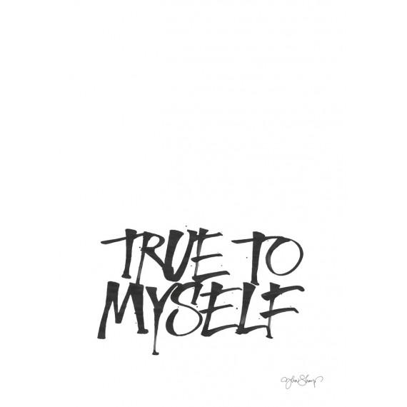 "Lámina ""true to myself"" de ylva skarp  21x29,7 cm"