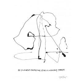 "Lámina "" be yourself"" de ylva skarp 30x40 cm."
