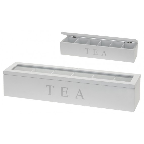 Caja de manera con 6 compartimentos 43cm