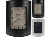 Reloj de pared en color negro de metal  39*55*12cm