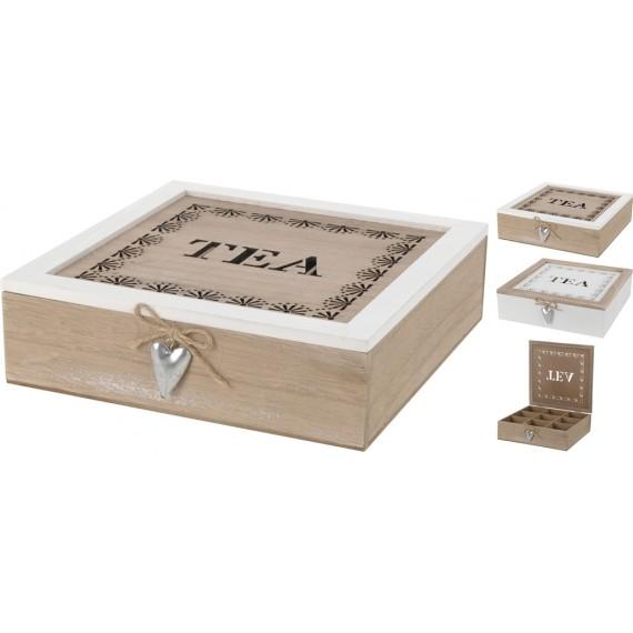 Caja de madera en color blanco 24x24cm
