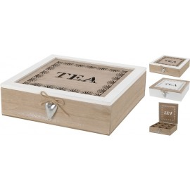 Caja de madera en color natural 30x30cm