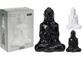 Budha porcelana en color blanco 20,5x8x14,5cm