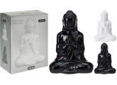 Budha porcelana en color negro 20,5x8x14,5cm