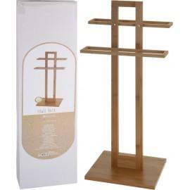 Toallero de pie en bambú  85x25x85cm