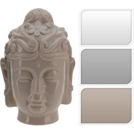Cabeza budha  color blanco de porcelana 22cm