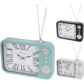 Reloj con forma de radio color azul 33x24cm