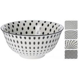 Bowl cerámica con puntos negros