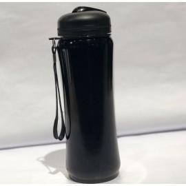 Botella de diseño para deporte negra