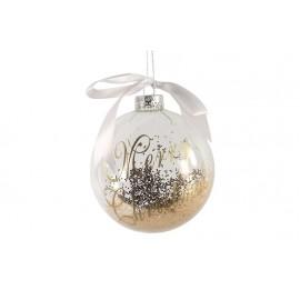Bola de navidad transparente -merry christmas-