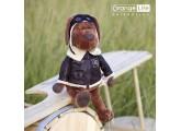 Mono de peluche vestido de aviador  45cm