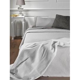 Colcha gris Lorena cama 150 cm