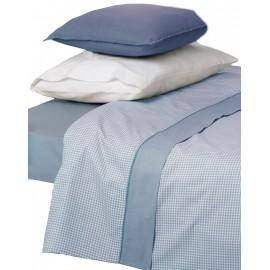 Juego de sábanas vichy beige cama 150 cm.