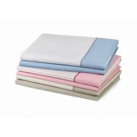 Juego de sábanas kingston azul cama 90 cm