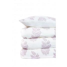 Edredón floral blanco y lila 240x260 cm