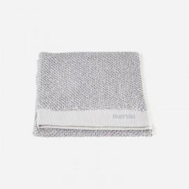 Toalla de tocador Meraki 100% algodón blanco-gris 40x60 cm