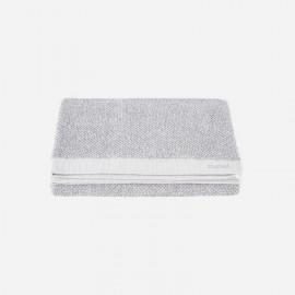 Toalla de lavabo Meraki 100% algodón blanco-gris 50x100 cm