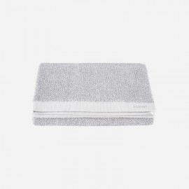 Toalla de baño Meraki 100% algodón blanco-gris 70x140 cm