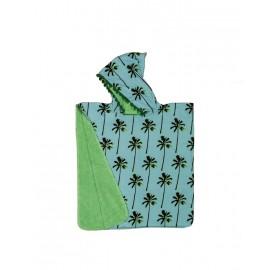 Poncho infantil turquesa y verde de BaliTowel 0-4 años