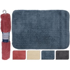 Alfombra de baño color gris 60x90cm
