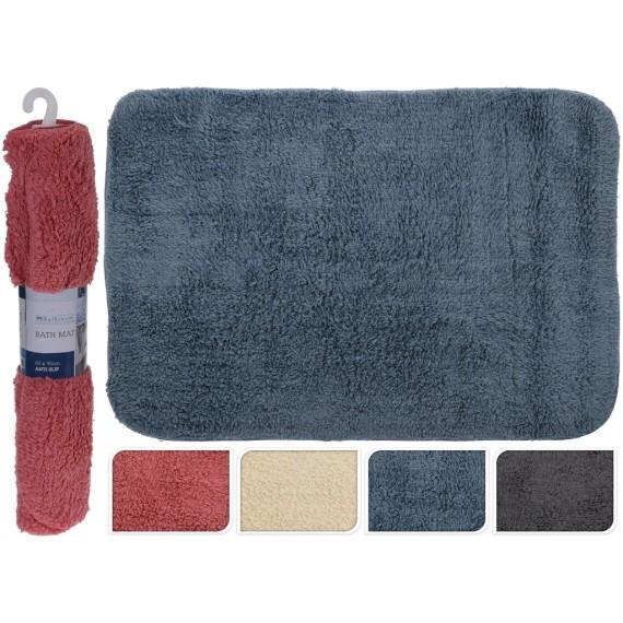 Alfombra de baño color azul   60x90cm