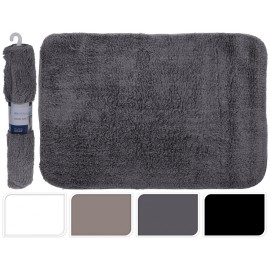 Alfombra de baño color gris    60x90 cm