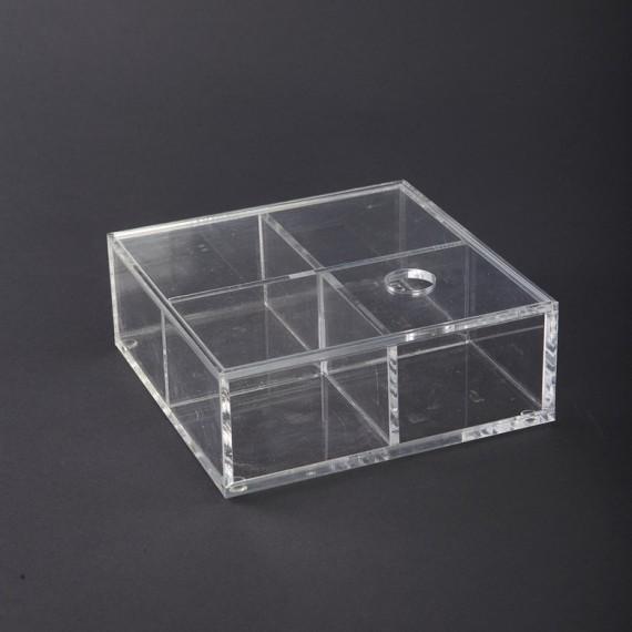 Caja con tapa House Doctor 16x16x6 cm
